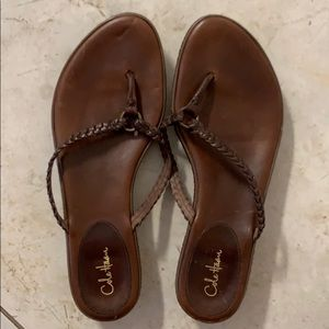 Leather Cole Haan Sandals with Nike insoles.